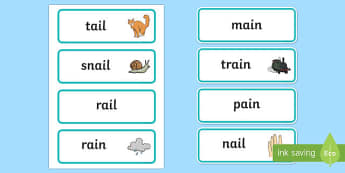 Ai Sound Word Cards - ai sound, word cards, word, cards, sound