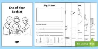 End of School Year Booklet - end of year, end of school, foundation phase, writing, memories,Welsh