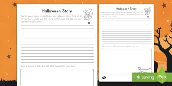 Halloween Story Activity -  Holidays, October, Fall, Halloween Activities, imagination, creative writing,