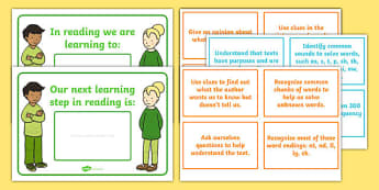 New Zealand Reading 2nd Year of School WALT, Learning To and Next Steps Display Posters