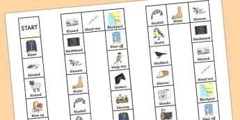 Two Syllable 'BL' Board Game - bl sound, syllable, board game, sound