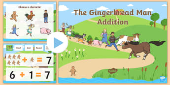 The Gingerbread Man Addition to 10 PowerPoint - powerpoints