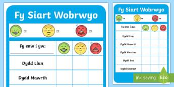 Fy Siart Wobrwyo  - Siart, Gwobrwyo, Rheoli, Ymddygiad, Adnodd, Reward, Chart, Behaviour Management, Resource,Welsh