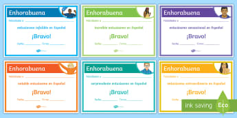 End-of-Year Enthusiasm Award Certificates Spanish - Diploma, Achievements, Awards, End, Year, Skills, Gift, Spanish, KS3, Secondary