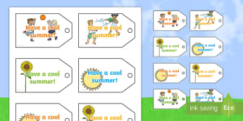 Have a Cool Summer! Labels - leaving present, gift, leavers, end of year, gift tag,
