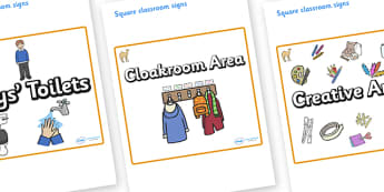 Camel Themed Editable Square Classroom Area Signs (Plain) - Themed Classroom Area Signs, KS1, Banner, Foundation Stage Area Signs, Classroom labels, Area labels, Area Signs, Classroom Areas, Poster, Display, Areas