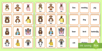 British Sign Language (BSL) Animals Matching Cards - sorting cards,sort, animal cards, matching activities, memory