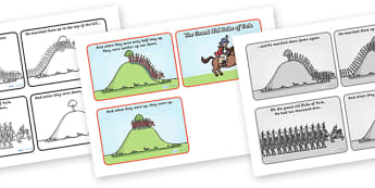 The Grand Old Duke of York Sequencing (4 per A4) - The Grand Old Duke of York, sequencing, nursery rhyme, rhyme, rhyming, nursery rhyme story, nursery rhymes, position, positional language, The Grand Old Duke of York resources