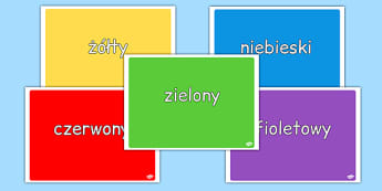 Zestaw zdjęć Kolory po polsku - przedszkole, zerówka, dzieci