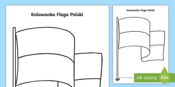 Kolorowanka Flaga Polski - niepodległość, maja, maj, trzeci, drugi, 3.05, 2.05, niepodległości, patriota, patriotyczne, pa