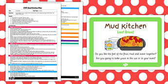 Leaf Bread EYFS Mud Kitchen Plan and Prompt Card Pack - mud kitchen