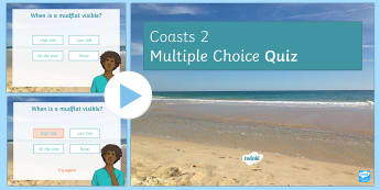 Coasts Quiz 2 PowerPoint - Coasts, Quiz, Revision, GCSE, Keywords
