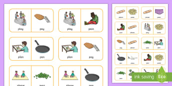 'pl' and 'p' Near Minimal Pair Dominoes - pl, cluster reduction, cluster simplification, l, minimal pairs, pl vs p, speech, speech sounds, spe