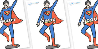 Next 200 Common Words on Superhero - Next 200 Common Words on  - DfES Letters and Sounds, Letters and Sounds, Letters and sounds words, Common words, 200 common words
