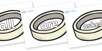 Tricky Words on Silver Rings - Tricky words, DfES Letters and Sounds, Letters and sounds, display, words