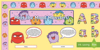 Mood Monsters Display Pack - EYFS, Start of Year, working wall, early years, foundation stage displays, All About Me, Ourselves,