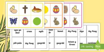 Bingo Pasg - Pasg, pasg, PASG, Pasg Hapus,, pili-pala, Byns y Groglith, deoriad cyw, nyth, wy, Pasg, cwningen, cr