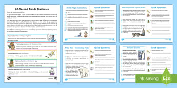 60-Second Reads: The Polar Regions Activity Cards - 90 words a minute, ninety words, reading speed, ITAF, expectations, Y2
