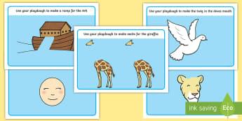 Noah's Ark Playdough Mats - Noah's Ark Playdough Mats - Ark, noah's ark, playdough, playdough mats, mat, mats, playduogh,