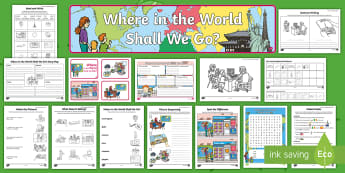 Where in the World Shall We Go? Activity Pack - travel agents, aistear, travel, holiday, travel agency, Irish