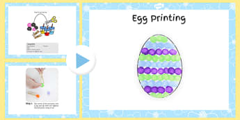 Egg Printing Craft Instructions PowerPoint - craft, powerpoint, egg, printing