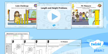 PlanIt Y1 Measurement Lesson Pack - Measurement, length, height, compare, describe, Y1, Year 1, KS1, maths, planning, problems