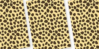Cheetah Themed Pattern A4 Sheets - safari, safari animal themed sheets, cheetah pattern sheets, cheetah sheets, cheetah a4 sheets, animal patterns