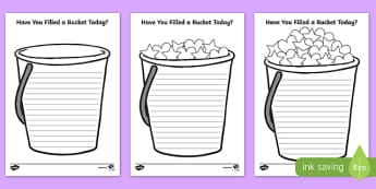 Have You Filled a Bucket Today Writing Frame - have you filled a bucket today, fill, bucket, today, writing frame