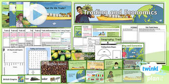 Geography: Trade and Economics Year 6 Unit Pack