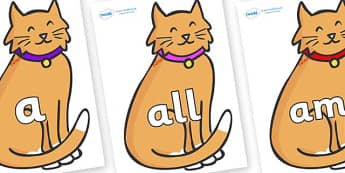Foundation Stage 2 Keywords on Pussy Cats - FS2, CLL, keywords, Communication language and literacy,  Display, Key words, high frequency words, foundation stage literacy, DfES Letters and Sounds, Letters and Sounds, spelling