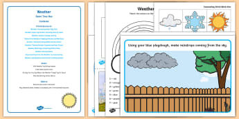 Weather Quiet Time Box - weather, Meteorology, table top activities, fine motor, quiet time