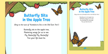 Butterfly Sits in the Apple Tree Song - butterfly life cycle, butterfly, life cycle