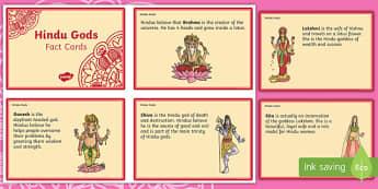 Hindu Gods Fact Cards
