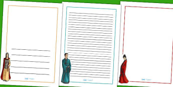 The Shang Dynasty Page Borders - shang dynasty, writing, literacy