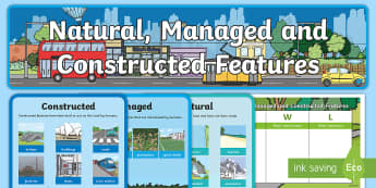 Natural, Managed and Constructed Features Display Pack - HASS, places, history, natural, locations, change, cared for, familiar features, important, ACHASSK0