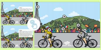 KS1 Tour de France Picture Hotspots - bike, cycle, Cycling, Competition, race