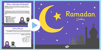 Ramadan Information PowerPoint Arabic Translation - arabic, ramadan, islam, information