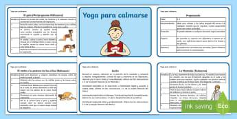 Yoga para calmarse - yoga para niños, yoga, calmarse, actividad de relajación, relajarse