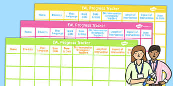 EAL Progress Tracker - English, EASL, tracker, progression