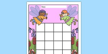 Fairy Themed Sticker Stamp Reward Chart - Fairy Themed Sticker Stamp Reward Chart, fariy, fairies, fantasy, charts, chart, award, well done, reward, medal, rewards, school, general, achievement, progress, story, fairy tale, wand