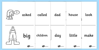 High Frequency Booklet Images - High frequency words, booklet, images, hfw, DfES Letters and Sounds, Letters and Sounds, display words