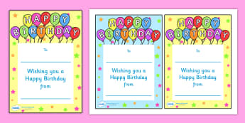 Note From Teacher Happy Birthday - note from teacher happy birthday, happy birthday, note from teacher, notes, praise, comment, note, teacher, teacher's, parents, birthday