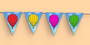 Hot Air Balloons Display Bunting