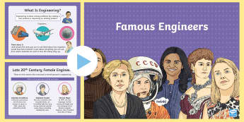 Women in Engineering Information PowerPoint - science, STEM, physics, chemistry, space, astronaut, computers, IT