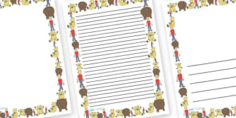 Where's My Teddy Page Borders - Where's My Teddy, teddy, woods, forest, lost, bear, page border, border, writing template, writing aid, writing aid, reading, story, story book, story resources