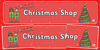 Christmas Shop Role Play Banner - christmas shop, role play, banner, display
