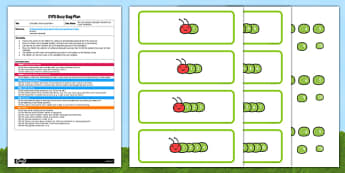 Caterpillar Ordering Numbers EYFS Busy Bag Plan and Resource Pack - numbers, ordering, sequencing, EYFS