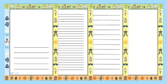Seasons Page Borders - seasons, page borders, borders, writing