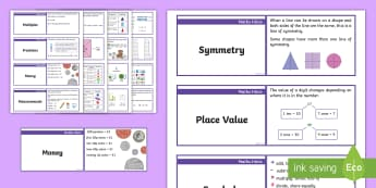 KS1 Maths Hint Lanyard-Sized Cards - numeracy, strategies, problem solving, calculations, reminders