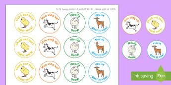 Farm-Themed Motivational Stickers - EYLF, Australia, Rewards, Behaviour Management, Early Childhood, Early Years, farm,Australia